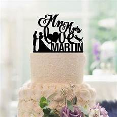decoration mariage cake toppers custom love heart bride