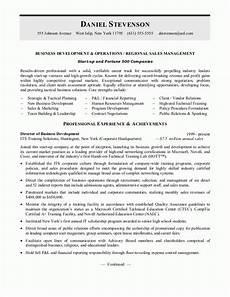 sle resumes business development resume or sales