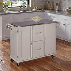 Kitchen Cart Island Walmart by Home Styles Patriot Kitchen Cart White Walmart