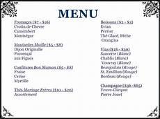 menu traditionnel français menu de restaurant francais or72 montrealeast