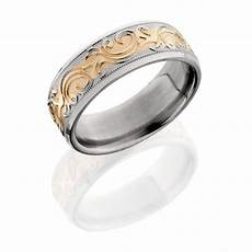 lashbrook 8hrm14 14krmjba polish titanium wedding ring or