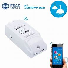 Dual Wifi Smart Push Button by Sonoff Dual Wifi Wireless Smart Switch For Smart Home