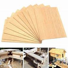 10x Holz Platte Bastelholz 150x100x2mm Balsa Basteln