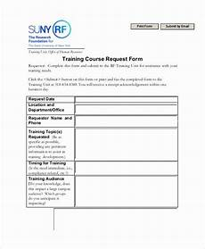 training request form template in 2020 templates form