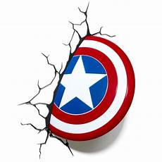 com 3d light fx marvel captain america shield 3d deco led wall light toys games