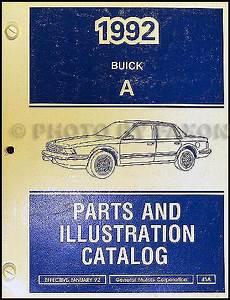 online car repair manuals free 1989 buick century electronic throttle control 1992 buick century illustrated master parts book catalog original oem ebay