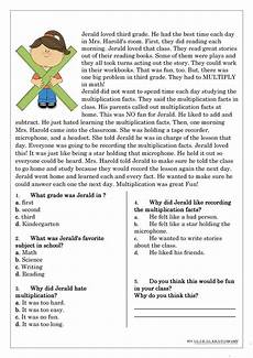 reading comprehension for beginner and elementary students 4 worksheet free esl printable