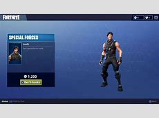 Rare Special Forces Skin for Fortnite Battle Royale