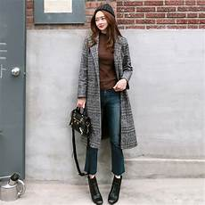 winter wool 2018 autumn s wool plaid coat new fashion