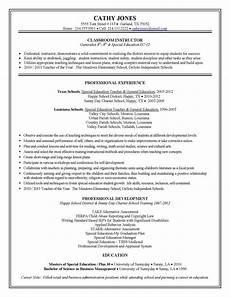 sle teacher resumes special education teacher resume