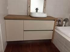 meuble cuisine sans poignée meuble sdb avec meuble de cuisine sans poign 233 e vasque pos 233 e