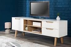 tv board eiche design lowboard nordic 150cm edelmatt wei 223 echt eiche tv