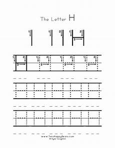 handwriting worksheets with starting dots 21631 learn the letter h with fluffy and