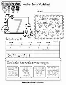 number seven worksheet free kindergarten math worksheet for kids