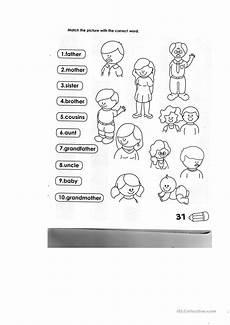 family members english esl worksheets