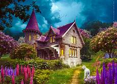 flower wallpaper house enchanted house hd wallpaper background image