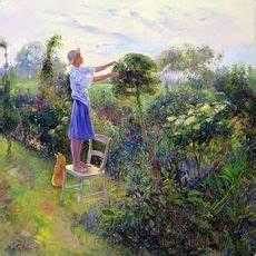 Arbeiten Im Garten - timothy easton lesen im garten poster bestellen