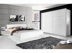 Silent Komplett Schlafzimmer Weiss Hochglanz 4 Teilig 200 Cm