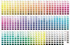 pantone color chart all colors