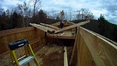 installing upper roof trusses 58 my diy garage build hd time lapse youtube
