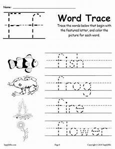 letter f worksheets 23099 letter f words free alphabet tracing worksheet supplyme