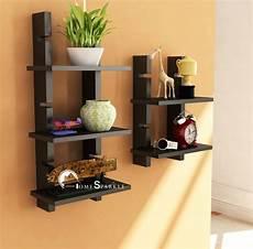 home sparkle adjustable ladder style wooden wall shelf