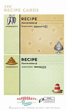 printable vintage recipe cards the graphics