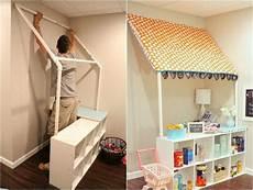 Bücherregal Kinderzimmer Selber Bauen - markise f 252 r den kinder kaufladen aus pvc rohren bauen