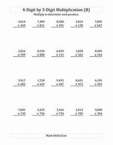 multiplication worksheets three digit by two digit 4621 the 4 digit by 3 digit multiplication b multiplication worksheet with images math
