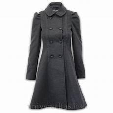 Coat Womens Wool Look Office Breasted