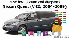 Fuse Box Location And Diagrams Nissan Quest 2004 2009
