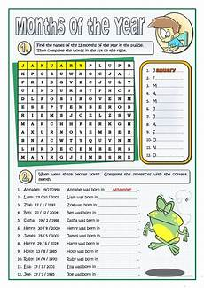 the months of the year worksheet free esl printable worksheets made by teachers