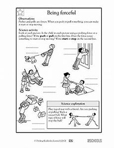 science worksheets on and motion 12334 1st grade 2nd grade kindergarten science worksheets being forceful science worksheets