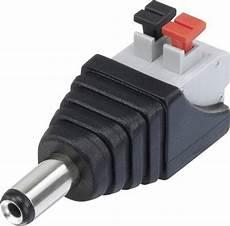niedervolt steckverbinder stecker gerade 5 5 mm 2 1 mm