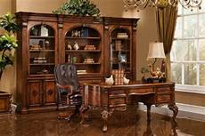 executive desk antique walnut w gold accent finish
