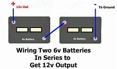 12 to 6 volt diagram how to wire two 6 volt batteries in series to produce 12 volts of output etrailer