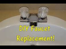removing faucet from kitchen sink diy how to replace a bathroom sink faucet remove replace install