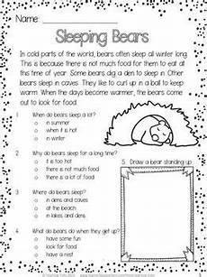 winter reading comprehension worksheets 3rd grade 20182 free winter reading comprehension passage sleeping bears educa 231 227 o