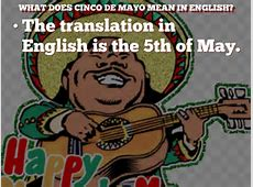 cinco de mayo translation