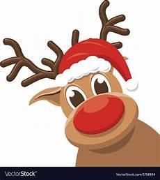 reindeer rudolph deer royalty free vector image