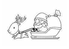 Ausmalbilder Rentier Mit Schlitten Santa And His Sleigh Coloring Pages Stock Vector Of