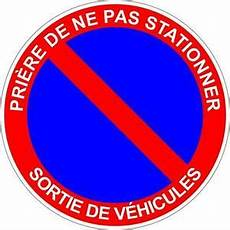 Autocollant Sticker Interdit Stationner Stationnement