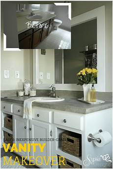 Bathroom Vanity Makeover Ideas Builder Grade Bathroom Vanity Makeover Plus Tutorial