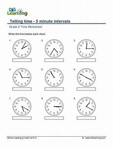 time worksheet class 5 2955 grade 2 telling time 5 minute intervals a