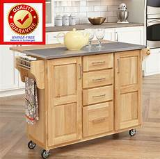kitchen cart island rolling serving cart quality hardwood stainless steel ebay
