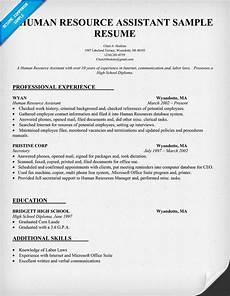 human resource assistant resume sle resumecompanion
