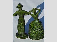 Vintage ceramic art Spanish flamenco dancers, 50s 60s