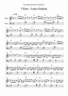 free full piano sheet music 7 years lukas graham pdf my favourite sentence from the lyrics is