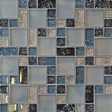 Glass Tile Backsplash Kitchen 1 Sf Blue Crackle Glass Mosaic Tile Backsplash Kitchen
