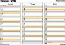 kalender 2018 zum ausdrucken in excel 16 vorlagen